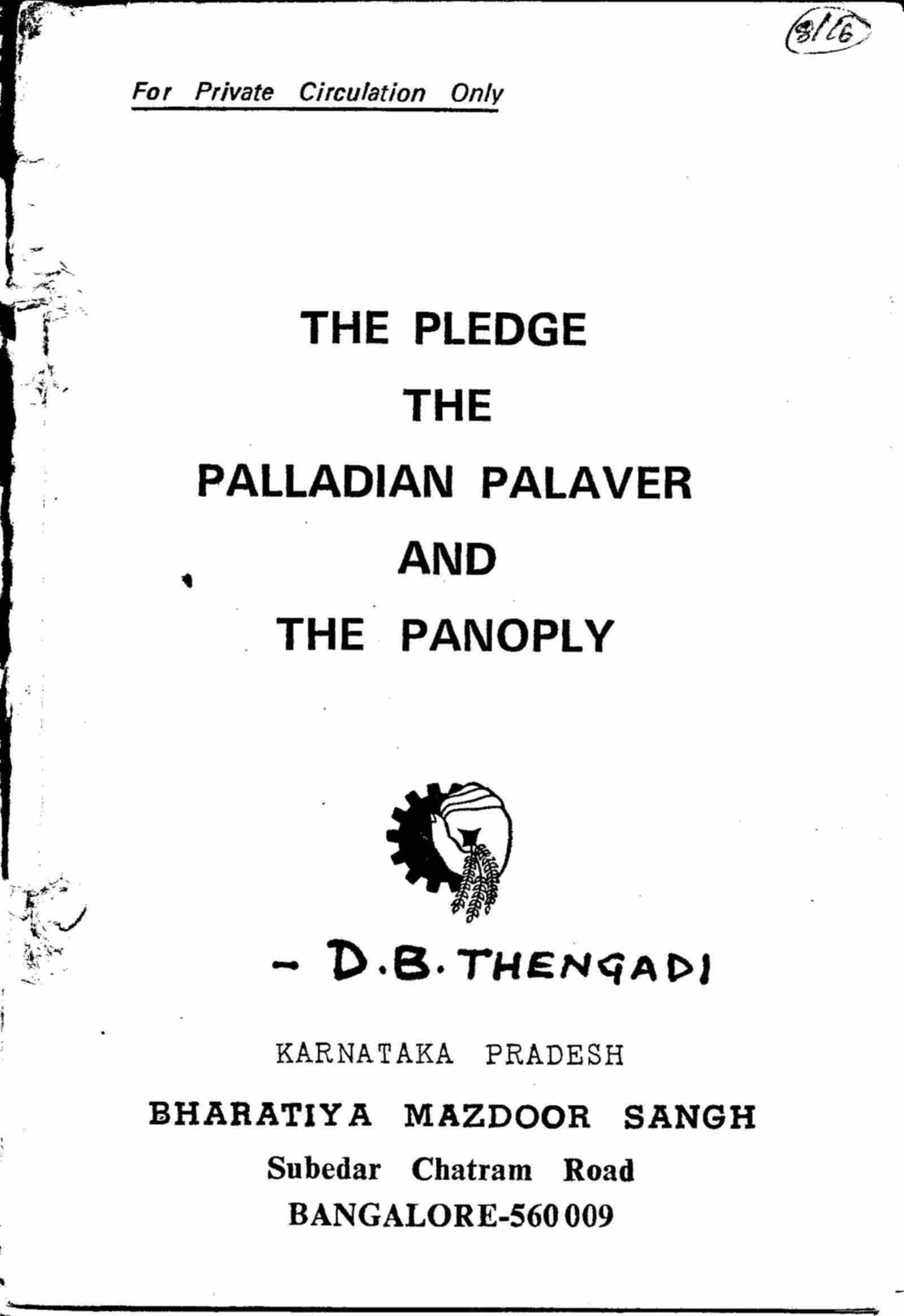 The Pledge The Palladian Palaver And The Panoply